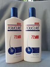 2  BOTTLES  FOLICURE Original SHAMPOO FOR FULLER THICKER HAIR 350ml (11.8 Fl) ea