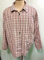 LIZ & ME WOMEN'S PLUS BUTTON DOWN COLLARED SHIRT OXFORD SIZE 4X LONG SLEEVE