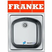 FRANKE EUROSTAR SINGLE 1.0 BOWL INSET WASTE STAINLESS STEEL SQUARE KITCHEN SINK