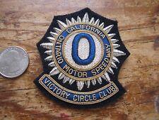 Ontario Motor Speedway BLAZER BADGE - Victory Circle Club - RARE