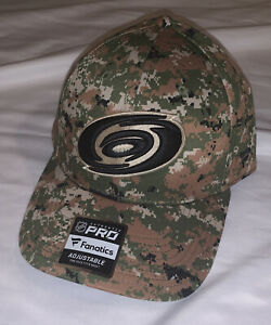 Men's Carolina Hurricanes Fanatics Military Appreciation Camo Adjustable Hat NWT