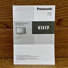 Original Panasonic Operating Instructions Lcd Tv Model TX-L19X5B TX-L24X5B