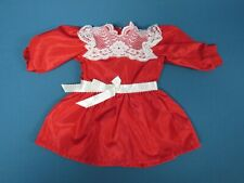 American Girl Samantha Christmas Red Cranberry Dress Lace