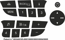Set of Stickers to repair the buttons on your Renault Clio/ Megane 2009 CD Radio