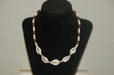 "18"" Cowrie Shell And Coconut Bead Surfer Choker/ Necklace-NK-15"