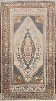 Antique Geometric Tribal Anatolian Turkish Area Rug Wool Hand-knotted 5x9 Carpet