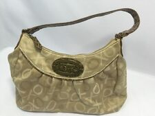 XOXO Purse Shoulder Bag Hobo Handbag Gold 1 Large 1 Zipper 2 Small Inside Pocket