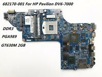 HP DV6 DV6-7000 Intel 630M/2GB Motherboard 682170-001 100% Test Good FreeShiping