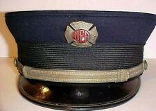 UFA FIREMAN VISOR HAT - NYC UNIFORMED FIREFIGHTERS ASSOCIATION EARLY 1930'S