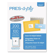 PRES-a-ply Laser/Inkjet Shipping Labels 5 1/2 x 8 1/2 White 200/Pack 30643