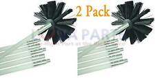 2 Pack Dryer Duct Cleaning Kit 12' Clear Clean Flexible Cleaner Vent Lint Brush