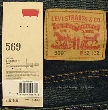 Levis 569 Jeans New Mens Loose Straight SZ 32 x 32 KALE (Dark Blue) Levi's #1466