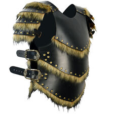 Custom Viking Warrior Leather Armour With Pauldrons, LARP, Medieval, COSPLAY