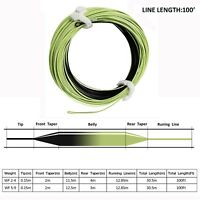 100FT Fly Fishing Line Sink Tip Weight Forward Floating Fly Line 2 Welded Loops