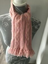 Childs Adams Pink Wool/Angora Sequinned Scarf