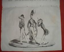 VCH 0448 DAUMIER 1834 HD-448 (rare) TRAINEURS SABRES DEUX Fils de LOUIS-PHILIPPE