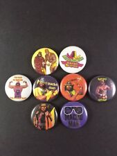"Randy Savage 1"" PIN BUTTON lot Macho Man Wrestling Wrestler WWF WF"