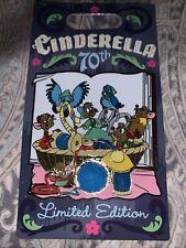 Disney Parks Cinderella 70th Anniversary Mice and Birds Le 4000 Pin Gus Jaq
