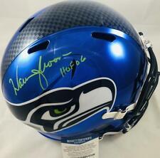 Warren Moon signed Seattle Seahawks full size chrome speed helmet BAS N72498