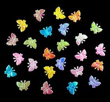 Aufnäher Deko Schmetterlinge 50 mm Applikation Tischdeko Streudeko,Verzieren