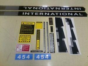 International 454 Decals