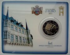 "2 euro Commémorative, Coincard Luxembourg 2013, ""L'Hymne National""."