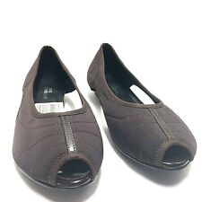 Ros Hommerson Womens Brown Open Toe Loafers Sandals Size 9 W Us