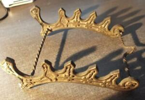 c.1850 ANTIQUE BRASS QUILL OR PEN STAND.  R38