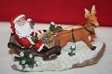 K's Collection Santa Claus on Sled with Raindeer