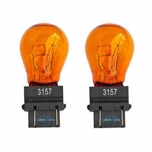 3157 3757A 183 Turn Signal Indicator Yellow Amber Wedge Bulbs PY27/7W
