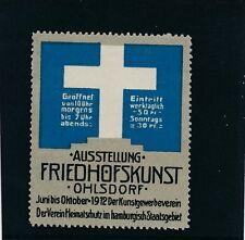 Vignette-Reklamemarke Ausstellung Friedhofskunst Ohlsdorf 1912   (B29)