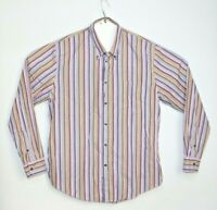 Sportscraft Men's Long Sleeve Strip Casual Fit Shirt Size L
