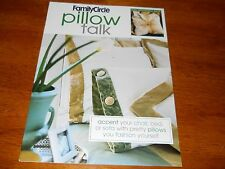 Pillow Talk by Family Circle--Create one of a kind accessory. NEW