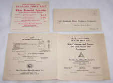 1922 DEALERS' PRICE LIST-NEW PERFECTION & PURITAN OIL COOK STOVES-CLEVELAND OH