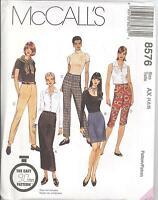McCall's 8576  Misses' Pants and Skirt In Two Lengths   Sewing Pattern