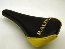Raleigh ricamato SELLA PER MOUNTAIN BIKE, FIXIE, qualsiasi bici nero & giallo NOS