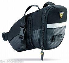 Topeak Medium Aero Wedge TC2261B Bike Seat Bag Saddle Pack QR Straps Black
