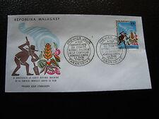 MADAGASCAR - enveloppe 6/2/73 - journee du timbre  - yt n° 515 - (cy6)