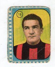 CALCIO  FIGURINA  CALCIATORI EDIZIONI  CICOGNA 1957-58   GRILLO  MILAN     NR 18