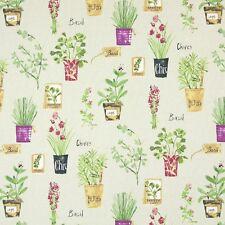 Prestigious Textiles Herb Pots Linen Curtain Fabric-137 cm wide
