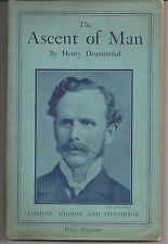 Henry Drummond The Ascent of Man early paperback Lowell Lectures 1910