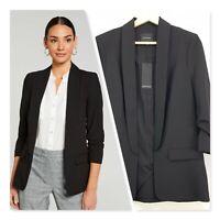 [ PORTMANS ] Womens Black Mi Amour Blazer Jacket NEW + TAGS  | Size AU 10 / US 6
