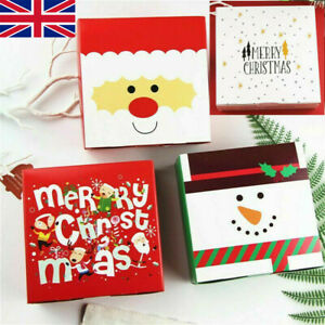 10PCS Christmas Gift Boxes Party Favours Sweet Biscuit Candy Treat Paper Pack W