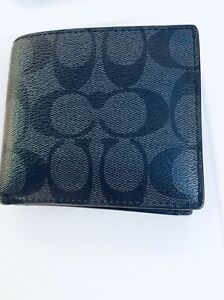 Coach Wallet Logo Design Bifold With Coin Section Leather