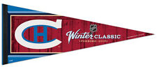 Montreal Canadiens NHL Winter Classic 2016 1920s Logo Style Premium Felt PENNANT