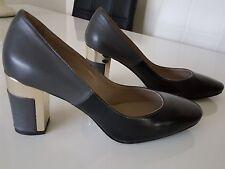 chaussure italienne femme pointure 38 bicolore noir / gris