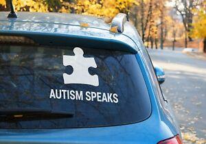 Autism Speaks jigsaw Vinyl Sticker Car Window OZ 9 COLORS