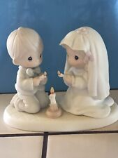 """Precious Moments """"The Lord Is Your Light To Happiness� Figurine-No Box Or Card"""