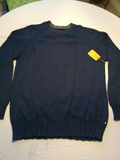 Quicksilver Waterman Collection Men's Crew Neck Sweater Cotton/wool Blend