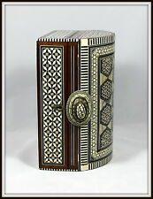 """Syrian Marquetry Mosaic Jewelry Chest with Bone & Mother of Pearl""(10.25"" Long)"